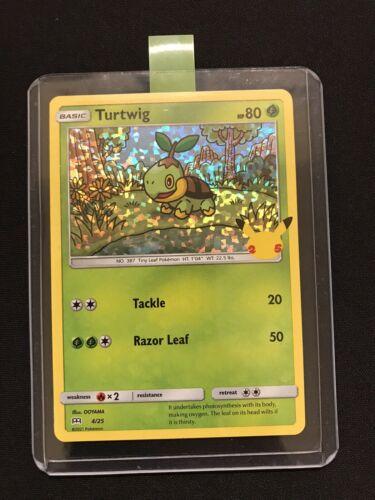 Turtwig 4/25 Holo Pokemon Card McDonald's 25th Anniversary Stamped Promo 2021
