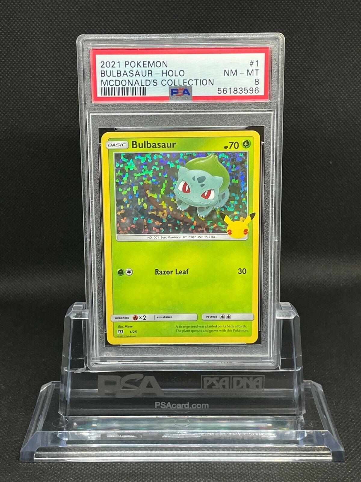 Pokemon - 2021 Mcdonald's Collection - Bulbasaur 1/25 - Holo - PSA 8 Near Mint