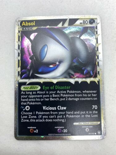 Absol Prime HGSS Triumphant 91/102 Holo Rare Pokemon Card NM - Image 2