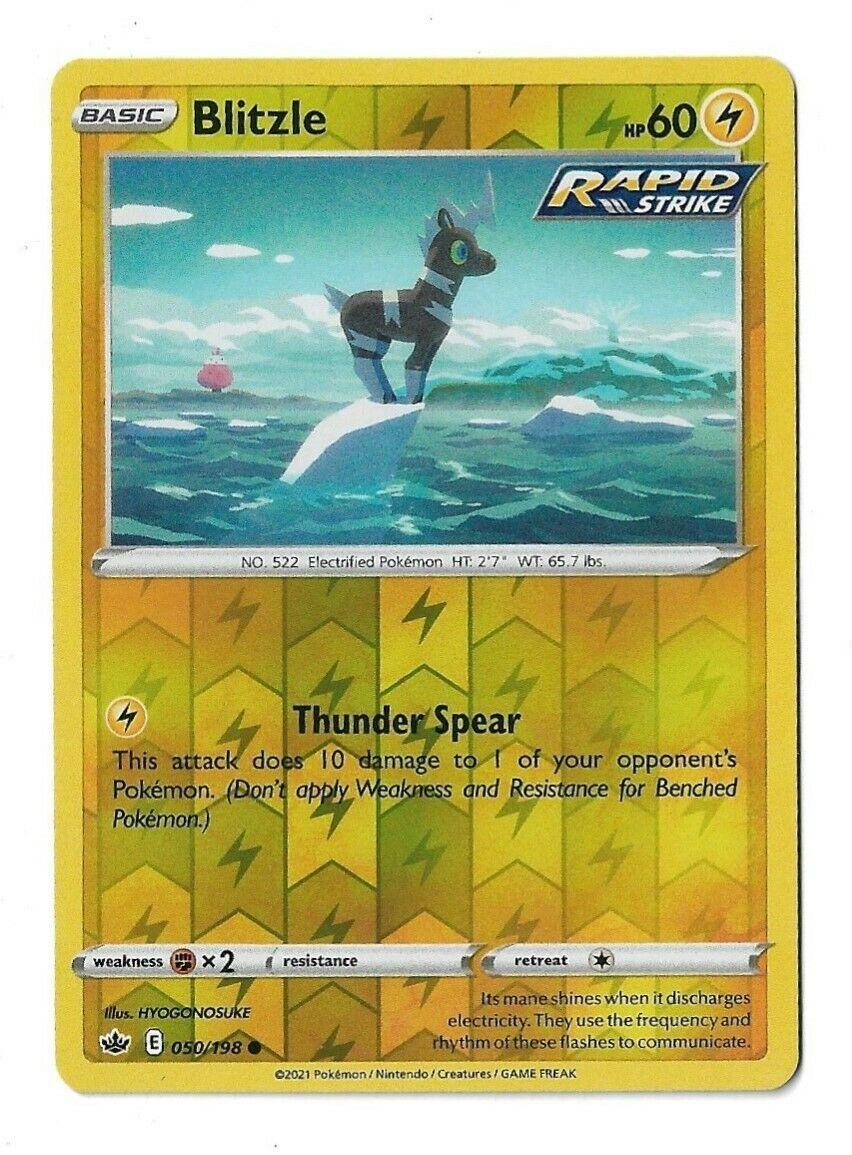 Pokemon TCG Chilling reign reverse holo Blitzle 050/198 NM
