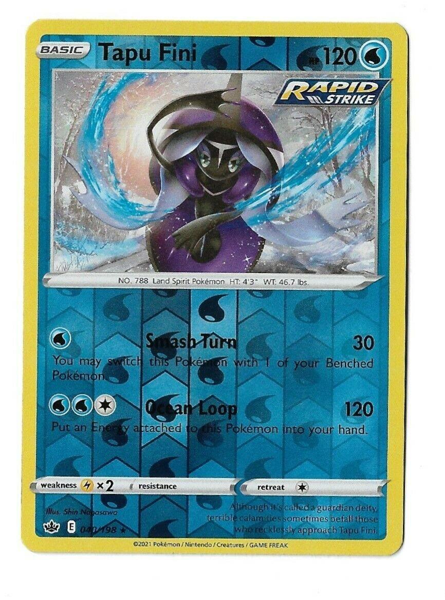 Pokemon TCG Chilling reign reverse holo Tapu Fini 040/198 NM