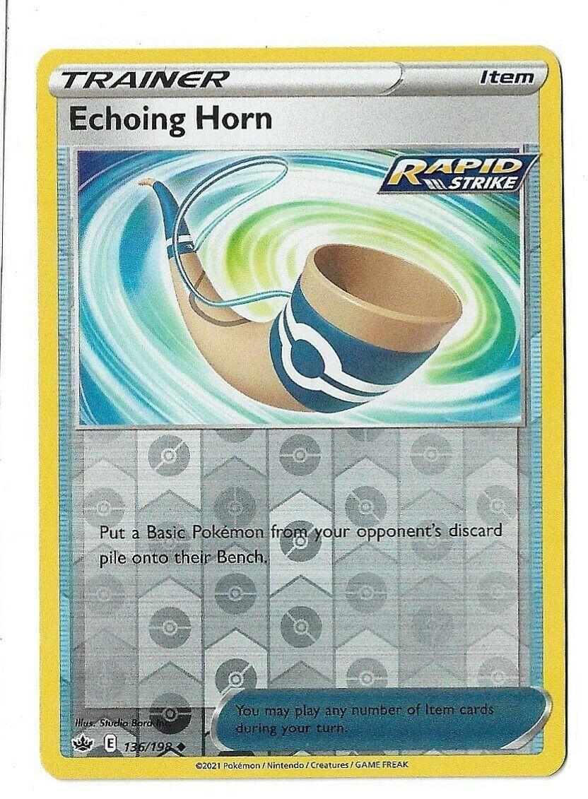 Pokemon TCG Chilling reign reverse holo Echoing Horn Trainer Item 136/198 NM