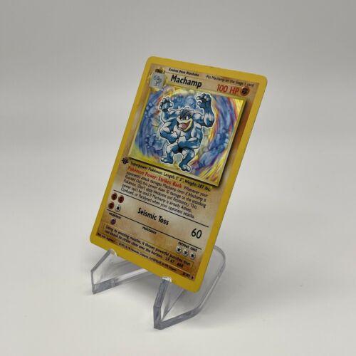 1st Edition Machamp - Holo 8/102 - Vintage 1999 English Base Set Pokemon Card - Image 12