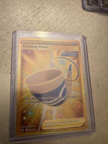 Pokemon Trainer Echoing Horn 225/198 Gold Secret Rare Chilling Reign