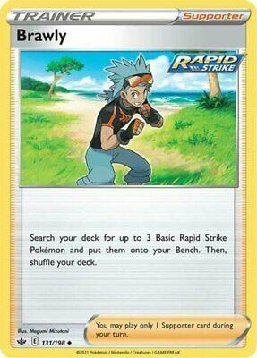 x4 Brawly - 131/198 - Uncommon Pokemon SS06 Chilling Reign M/NM