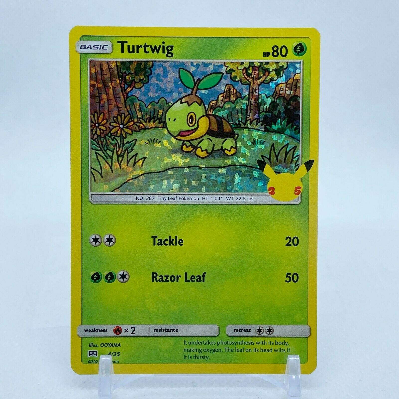 Turtwig - 4/25 Mcdonald's Promo 25th Anniversary Holo Starter Pokemon - NM/MINT