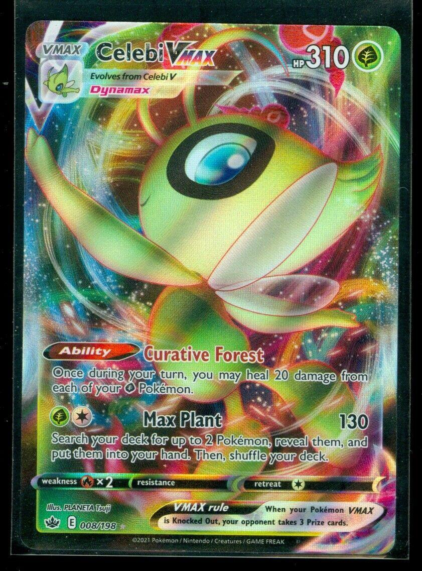 Pokemon CELEBI VMAX 008/198 Chilling Reign - ULTRA RARE HOLO - MINT