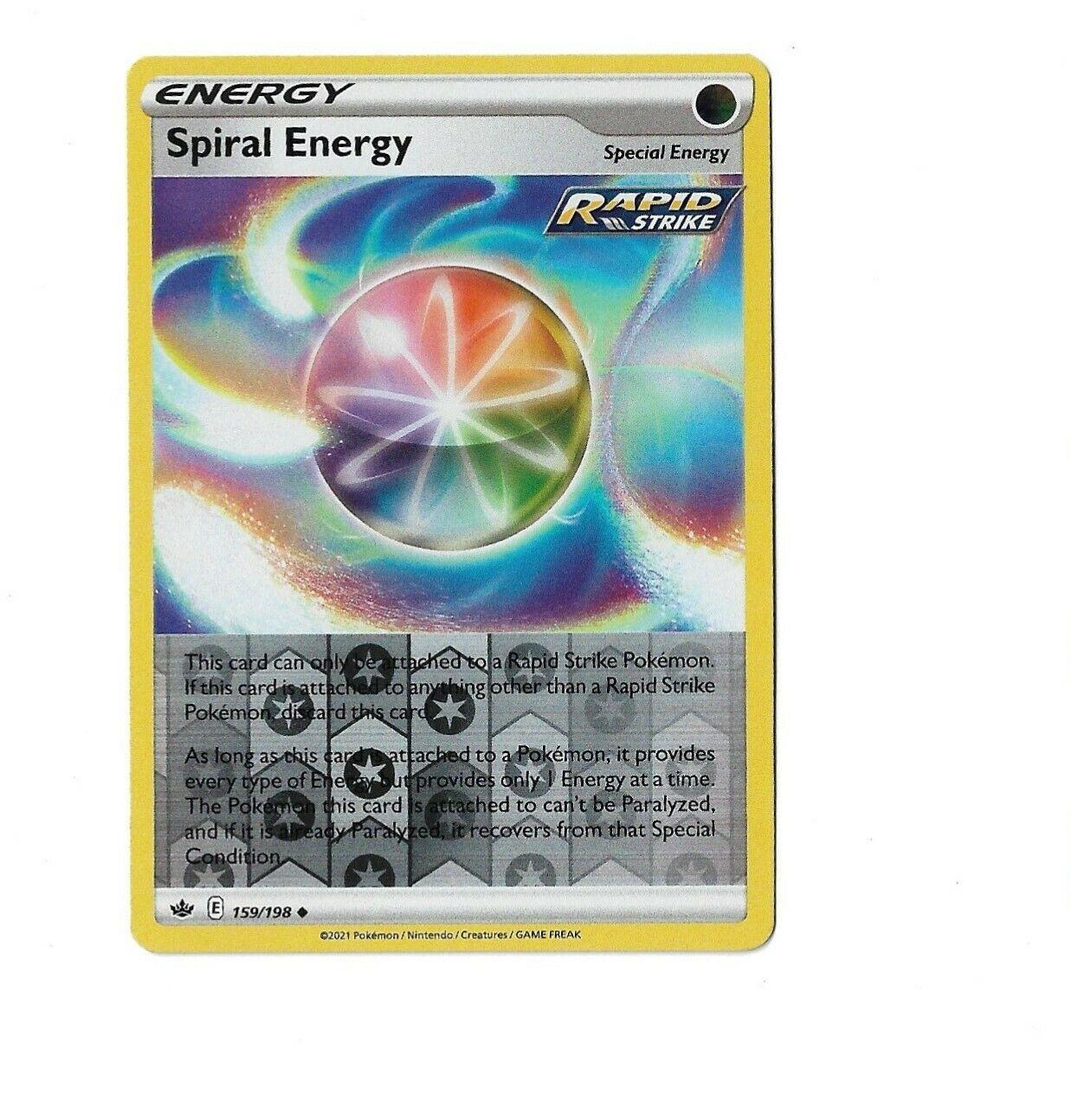 Pokemon TCG Chilling reign reverse holo Spiral Energy 159/198 NM