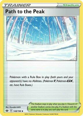 4x Path to the Peak - 148/198 - Uncommon NM-Mint Pokemon SWSH6 - Chilling Reign