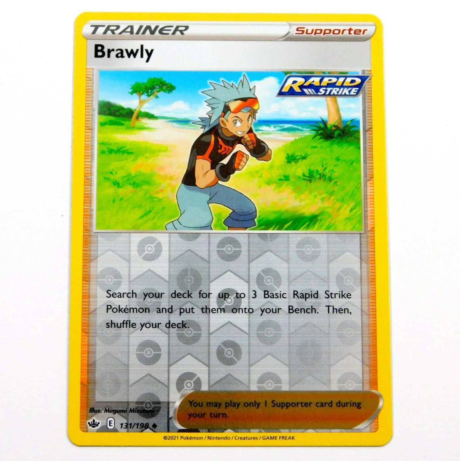 Brawly 131/198 Reverse Holo Chilling Reign Pokemon Card NM/M