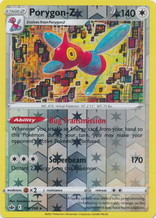 x1 Porygon-Z - 118/198 - Holo Rare - Reverse Holo Pokemon SS06 Chilling Reign M/