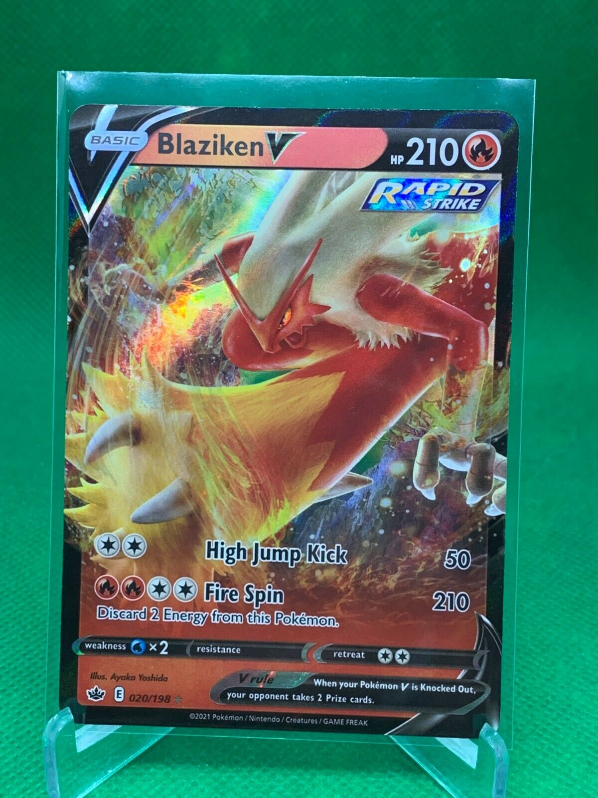 Pokemon - Blaziken V - Chilling Reign - 020/198 - Ultra Rare
