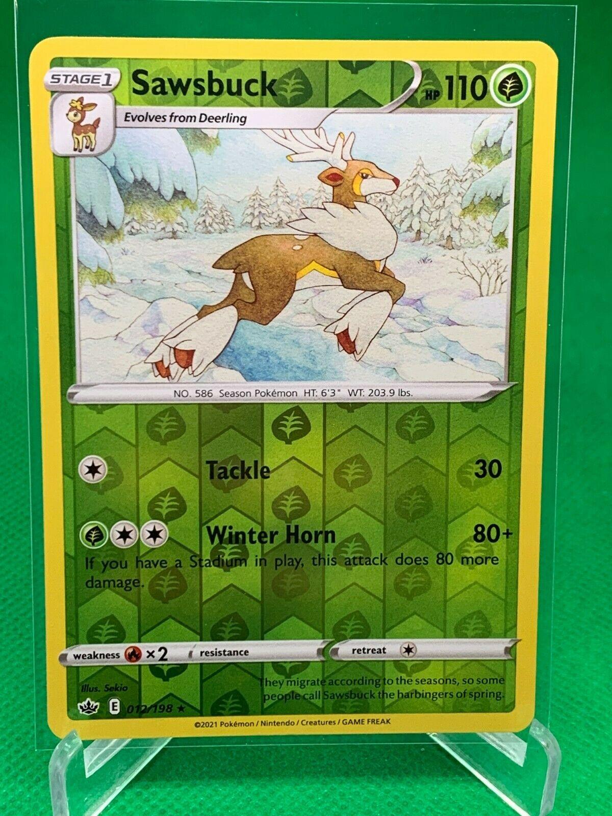 Pokemon - Sawsbuck - Chilling Reign - 012/198 - Reverse Holo Rare