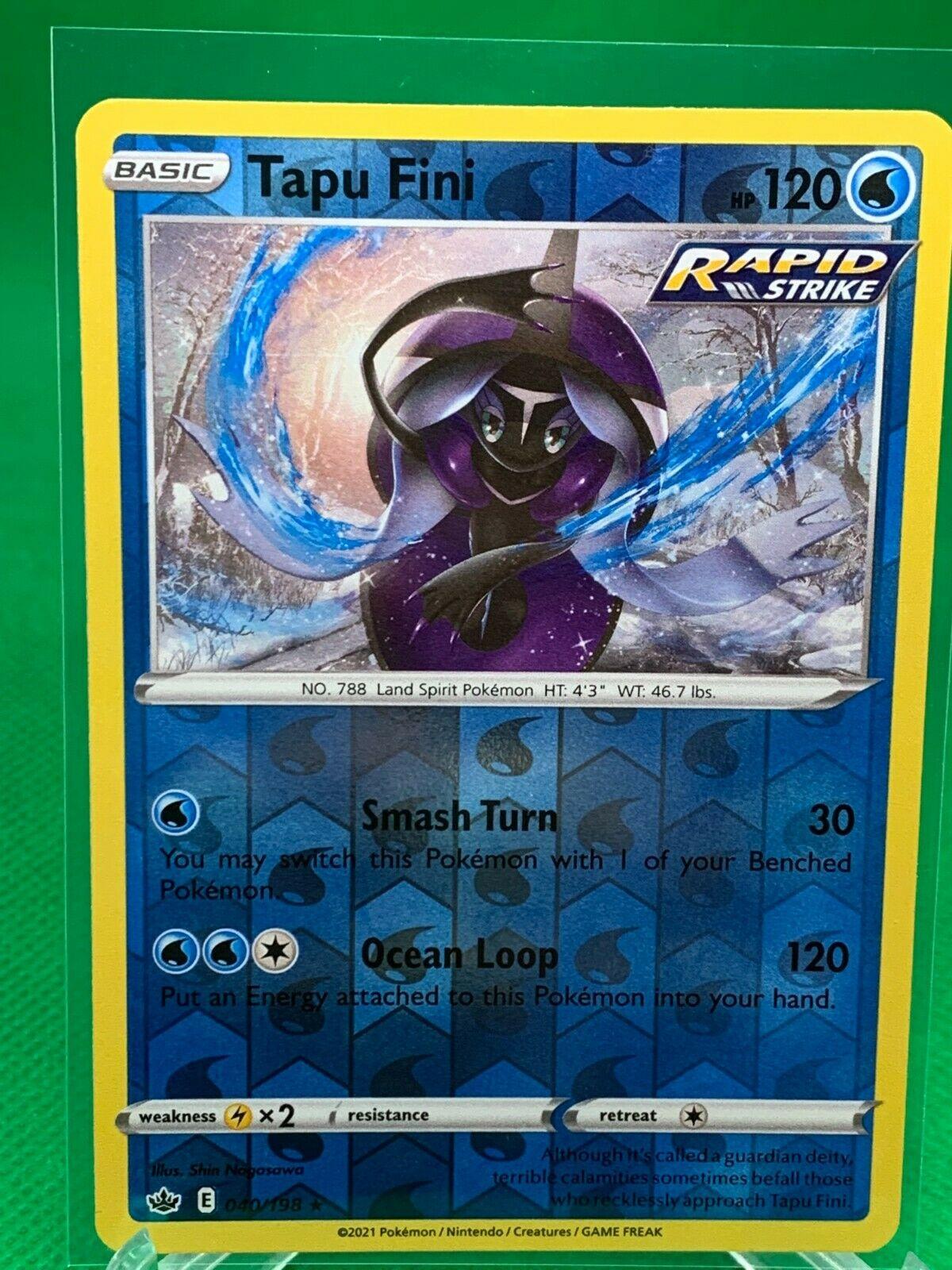 Pokemon - Tapu Fini - Chilling Reign - 040/198 - Reverse Holo Rare