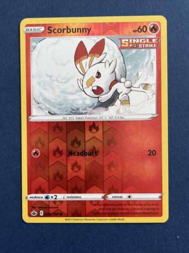 Pokemon Trading card game Chilling reign reverse holo Scorbunny 026/198 NM