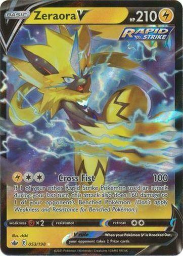 Pokemon Chilling Reign Zeraora V Ultra Rare 053/198
