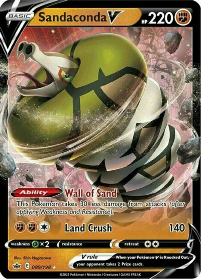 Pokemon - Sandaconda V - 089/198 - Ultra Rare - Chilling Reign  - NM/M