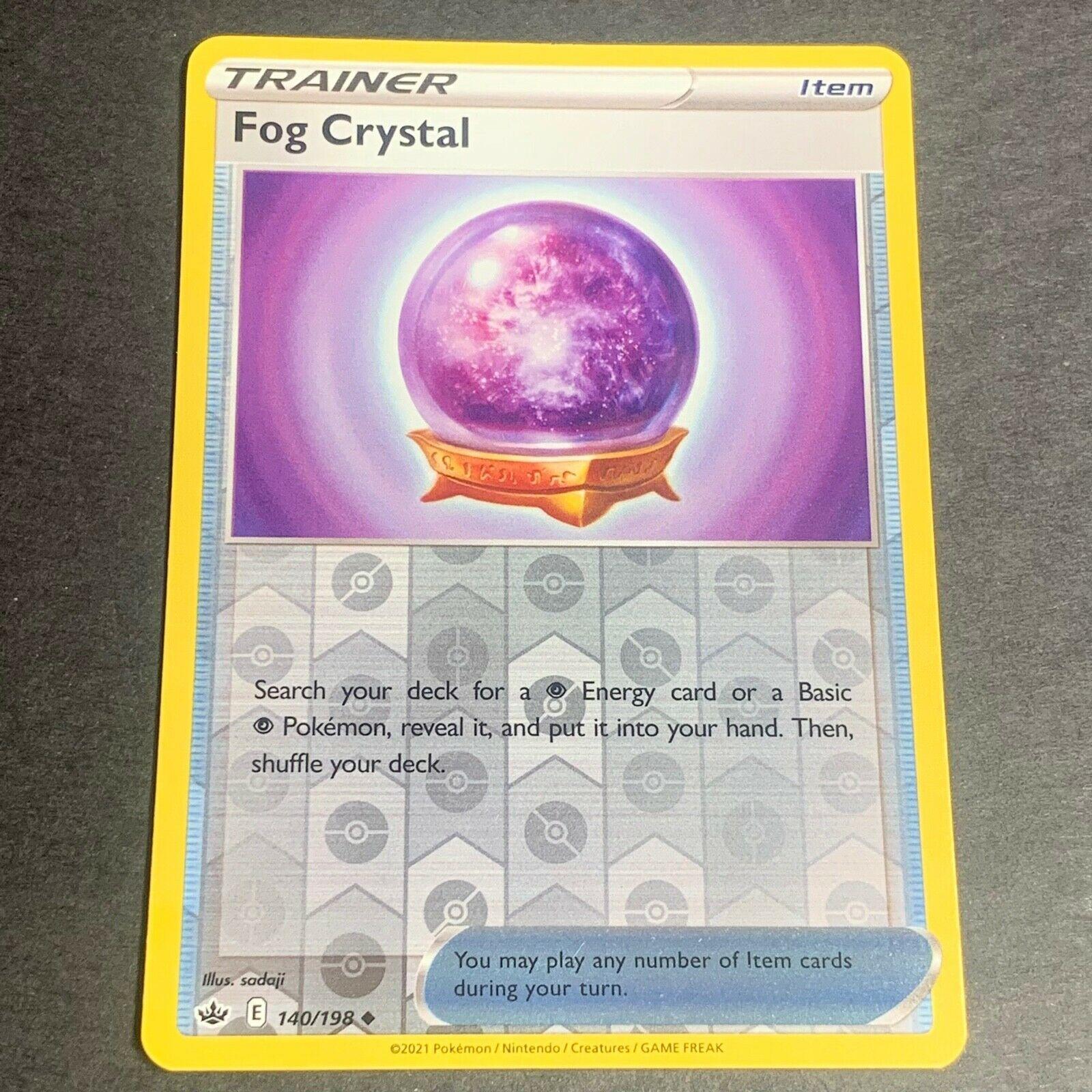 Pokemon S&S Chilling Reign Set REVERSE HOLO (Un.) Fog Crystal 140/198 - NM