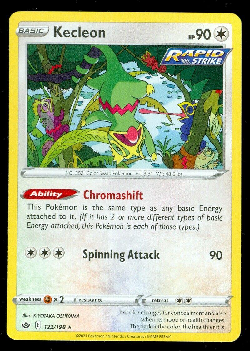 Pokemon KECLEON 122/198 Chilling Reign - RARE - - MINT