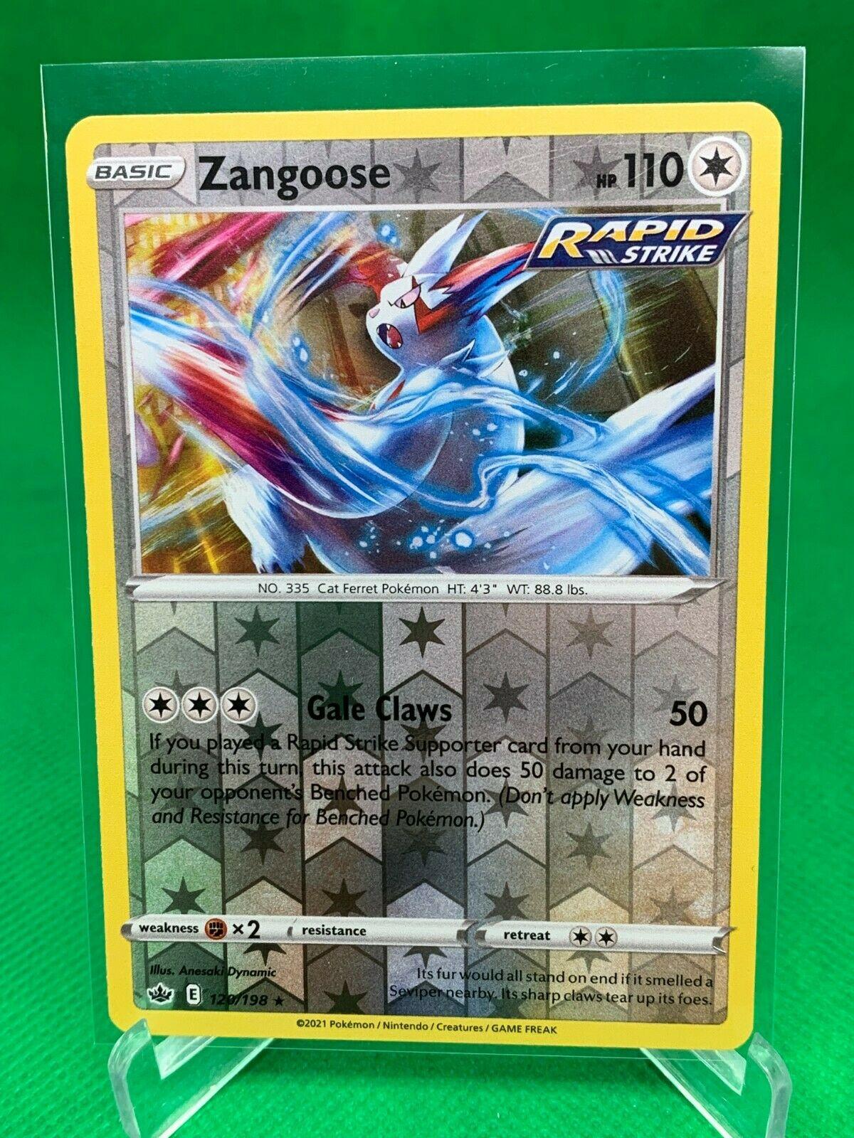 Pokemon - Zangoose - Chilling Reign - 120/198 - Reverse Holo Rare