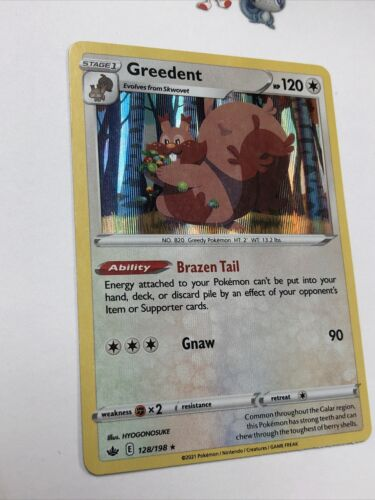 Pokemon Greedent 128/198 Holo Rare Chilling Reign Near Mint