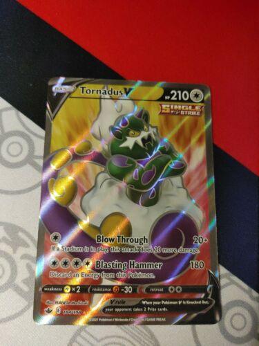 Tornadus V FULL ART 184/198 Holo Pokemon Card Chilling Reign