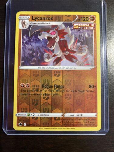 Pokemon : SWSH CHILLING REIGN LYCANROC 087/198 RARE HOLO REVERSE
