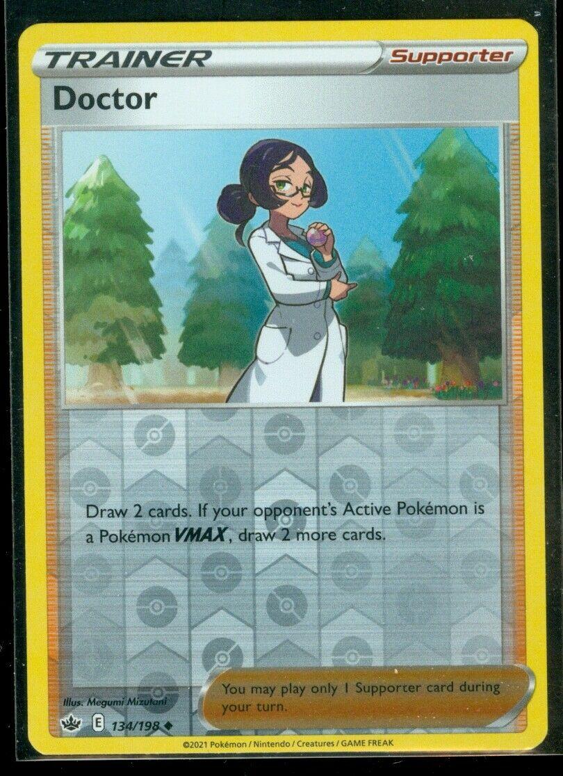 Pokemon DOCTOR 134/198 Chilling Reign - Rev Holo - MINT