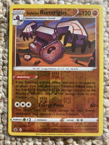 Galarian Runerigus 083/198 - Reverse Holo Rare - Pokemon Chilling Reign - Mint