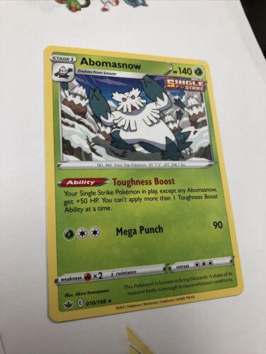 x1 Abomasnow - 010/198 - Rare - Pokemon SS06 Chilling Reign M/NM