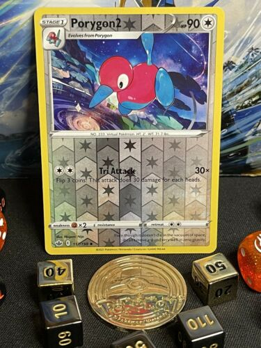 Porygon2 117/198💫 Reverse Holo💫 Chilling Reign💫+2 Free Cards💫MNT+