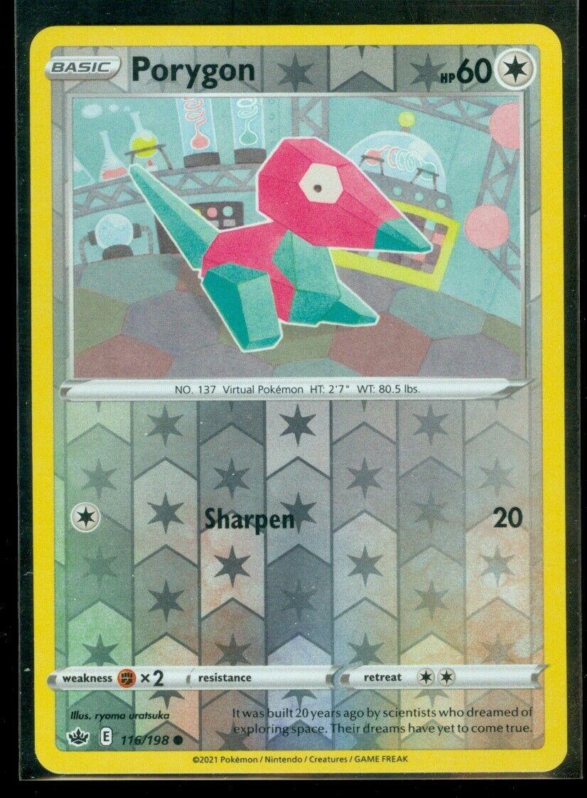 Pokemon PORYGON 116/198 Chilling Reign - Rev Holo - - MINT