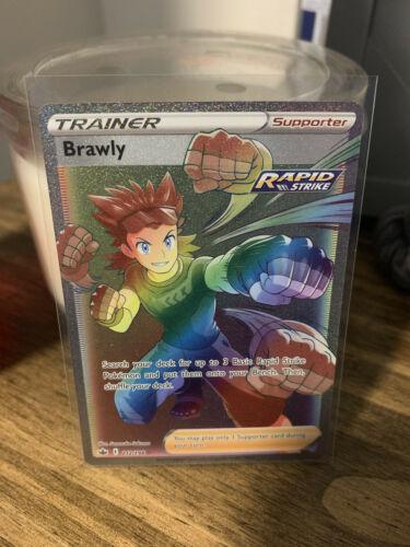 Brawly Hyper Rare 212/198 New Chilling Reign Pokémon Set Mint Condition 🔥🔥