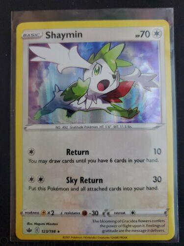Shaymin Holo Rare Pokemon Card Chilling Reign 123/198 M/NM