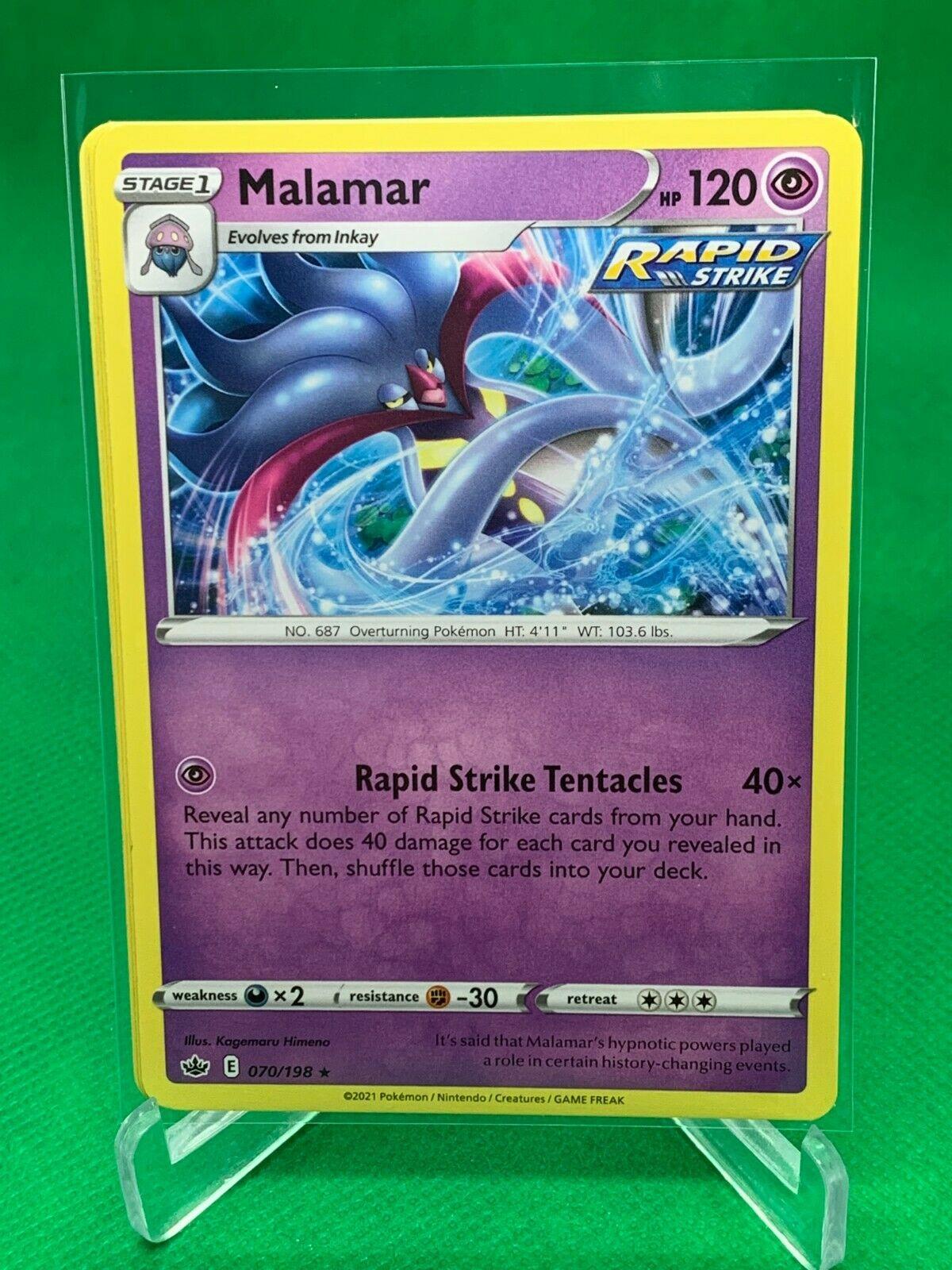 PLAYSET - Pokemon - Malamar x4 - Chilling Reign - 070/198 - Rare