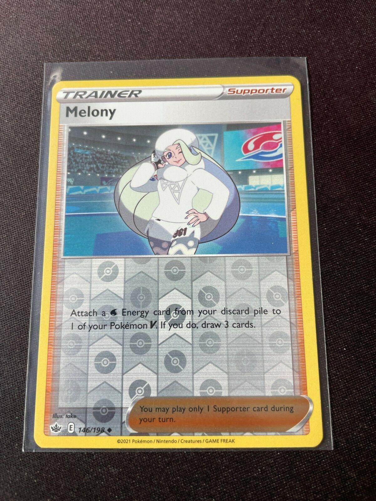 Pokemon TCG Chilling Reign 146/198 Melony Card Reverse Holo Mint