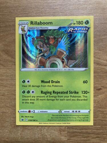 Rillaboom 018/198 Holo Rare Pokemon SS06 Chilling Reign SQUARE CUT MISPRINT