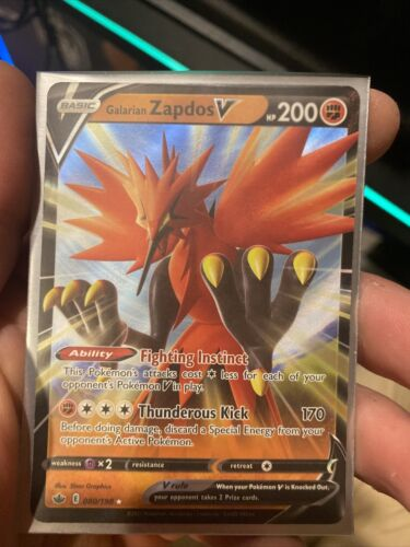 Galarian Zapdos V 080/198 Chilling Reign English In Hand Pokemon
