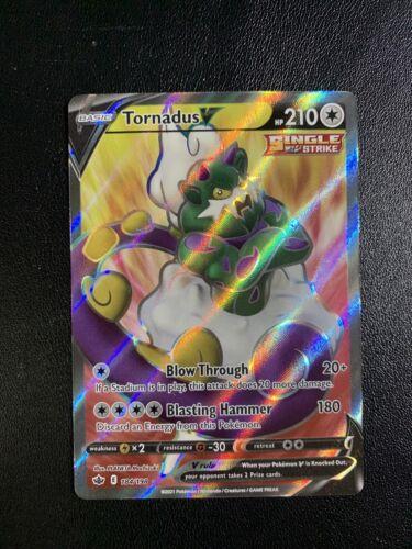 Tornadus V - Chilling Reign 184/198 - Full Art Rare Holo Pokemon Card - NM/M