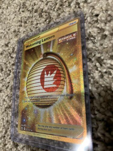 Pokemon Chilling Reign Welcoming Lantern 230/198 Gold Secret Rare MINT