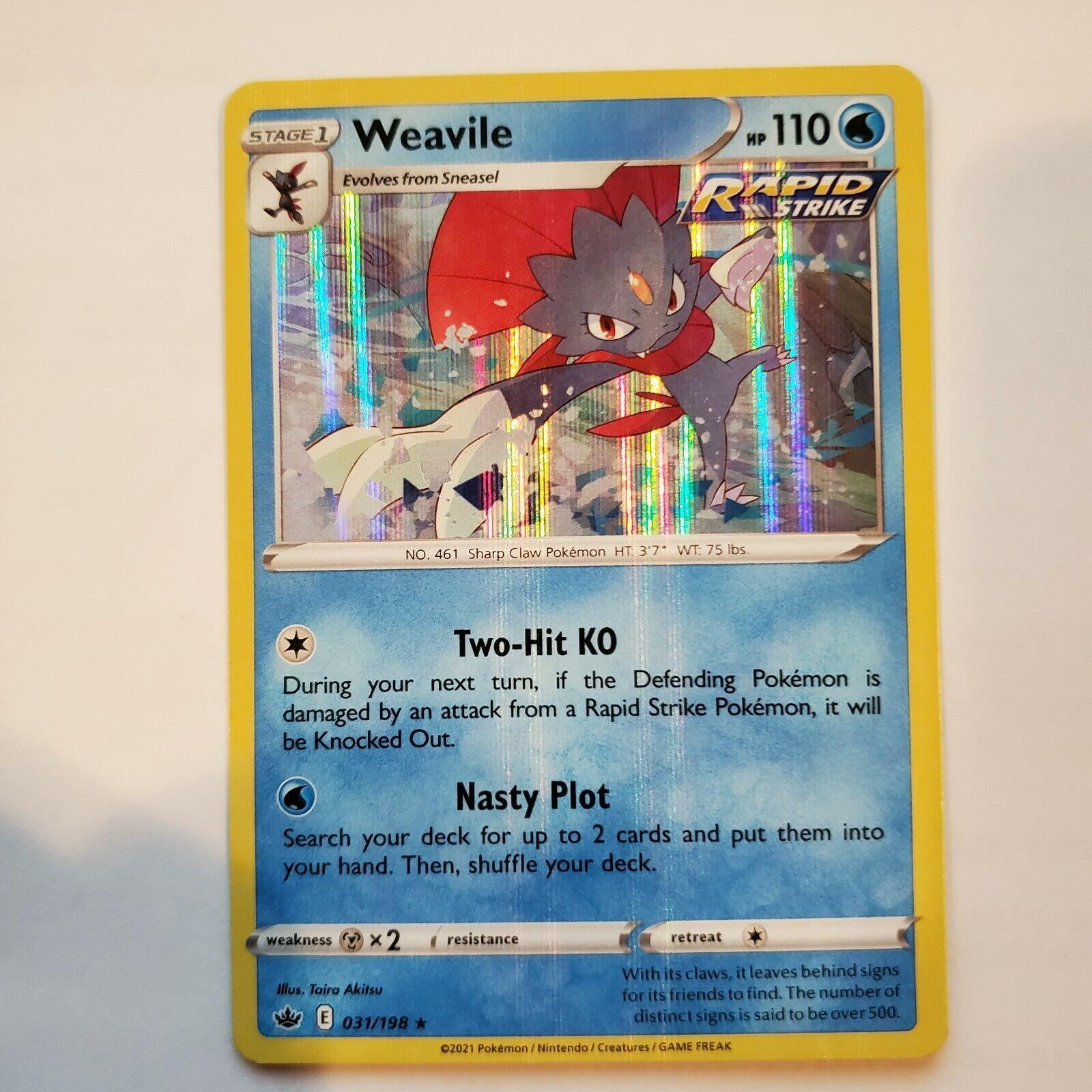 Pokemon TCG Weavile 031/198 Holo Chilling Reign
