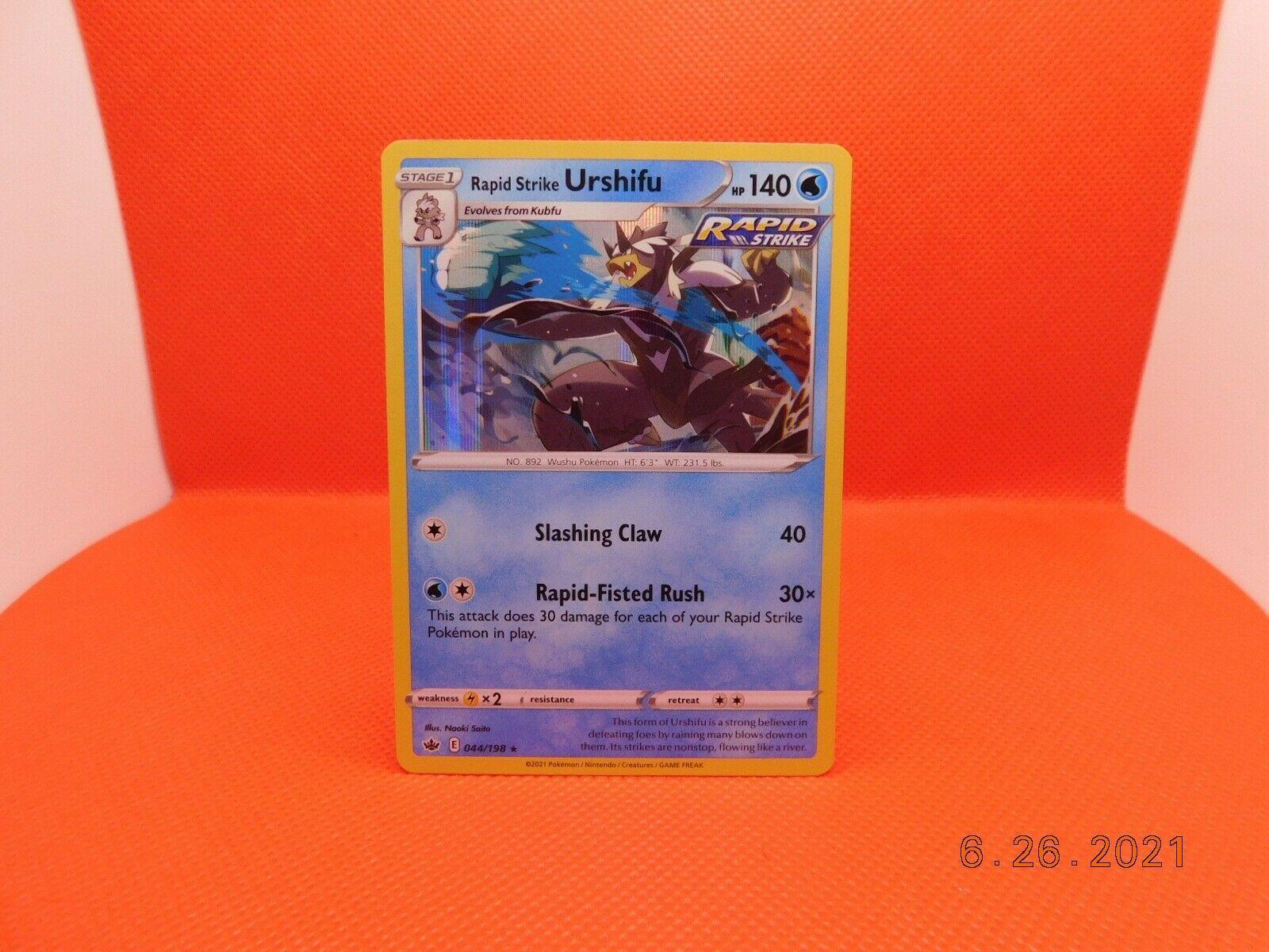 Rapid Strike Urshifu 044/198 - Pokemon TCG - Chilling Reign - MINT