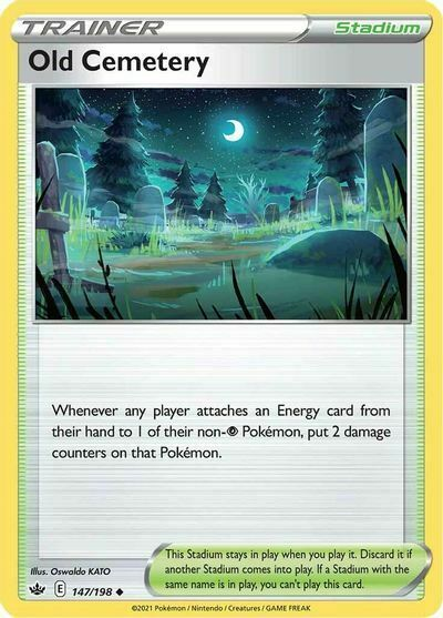 x4 Old Cemetery 147/198 Pokemon SWSH06: Chilling Reign NM PP