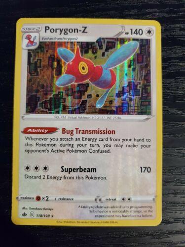 Porygon-Z 118/198 Chilling Reign Holo Rare Pokemon Card NM