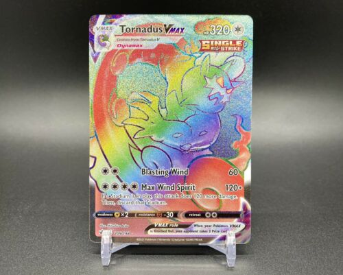 Tornadus VMAX Rainbow Rare 209/198 Pokemon TCG Chilling Reign Near Mint Fresh - Image 1