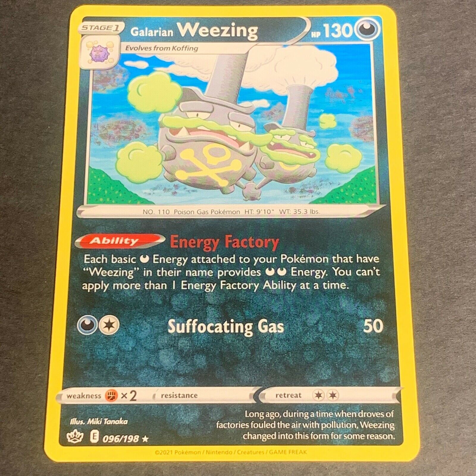 Pokemon S&S Chilling Reign Set RARE Galarian Weezing 096/198 - Near Mint (NM)