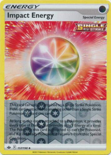Pokemon - Impact Energy - 157/198 - Reverse Holo - Chilling Reign - NM/M