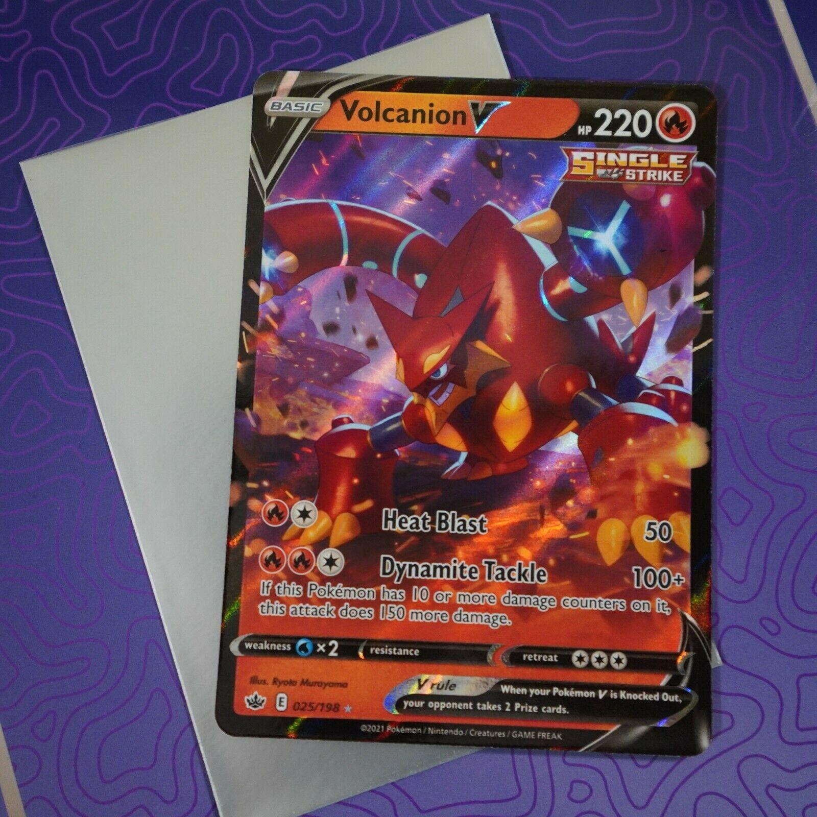 Volcanion V 025/198 Ultra Chilling Reign Pokemon Card NM