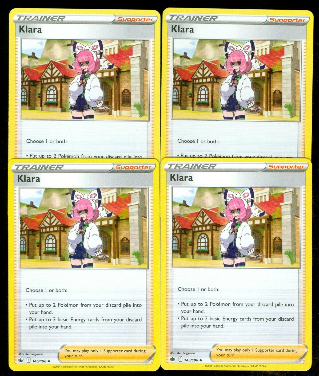 Pokemon KLARA 145/198 Chilling Reign - - MINT 4X