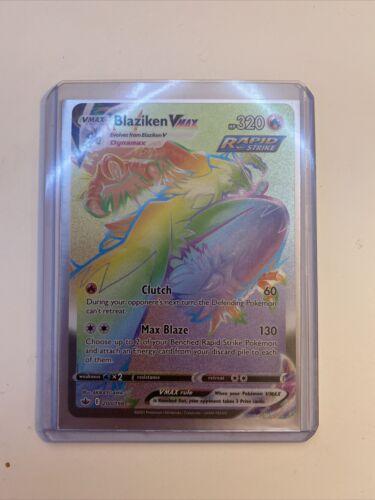 Blaziken VMAX Rainbow Secret Rare 200/198 - Pokemon Chilling Reign NEAR MINT!